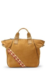 Vince Camuto Rosa Leather Tote Yellow Creamy Caramel
