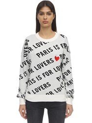 Zadig And Voltaire Cotton Intarsia Knit Sweater White