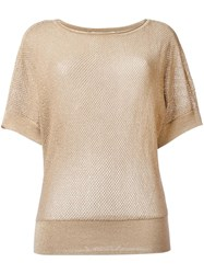 Michael Kors Short Sleeve Jumper Nude Neutrals