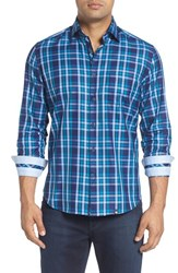 Stone Rose Men's Plaid Sport Shirt Teal