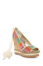 Donald J Pliner Naomi High Wedge Lace Pump Multi