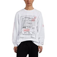 Rta Patient Form Print Cotton Long Sleeve T Shirt White