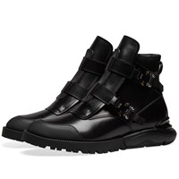 Christian Dior Homme Buckle Military Boot Black