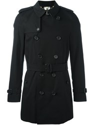 Burberry Double Breasted Jacket Black