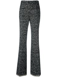 Giambattista Valli Exposed Stitching Flared Trousers Black