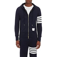 Thom Browne Men's Block Striped Cotton Hoodie Navy