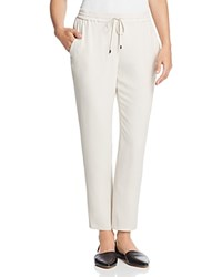Eileen Fisher Petites Silk Ankle Pants Bone