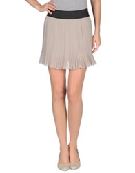 Kaos Mini Skirts Beige