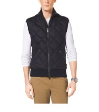 Michael Kors Quilted Wool And Cashmere Vest Midnight