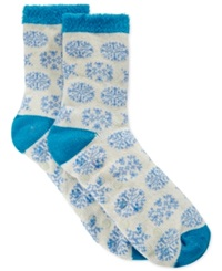 Charter Club Women's Multi Snowflake Socks Only At Macy's Ivory