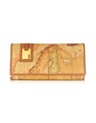 Alviero Martini Large Women's Medium Id Flap Wallet Natural