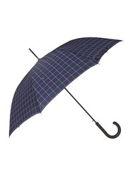 Fulton Shoreditch Check Walker Umbrella Navy