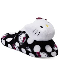 Hello Kitty Plush Head Slippers Black