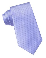 Dkny Silk Dotted Stripe Tie Blue