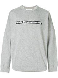 White Mountaineering Drop Shoulder Logo Sweatshirt Grey