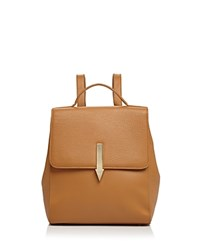 Karen Walker Arrow Mini Leather Backpack Tan Gold