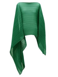 Issey Miyake Pleats Please Madame T Pleated Scarf Green