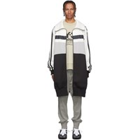 Y 3 White And Grey Oversize Varsity Track Jacket