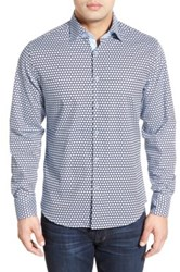 Stone Rose Classic Fit Polka Dot Sport Shirt Big And Tall Blue