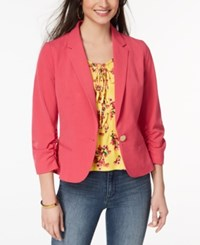 Xoxo Juniors' Kensington Ruched Blazer Pink