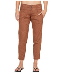 Prana Lizbeth Capris Tree Bark Women's Casual Pants Tan