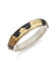 Diane Von Furstenberg Twigs And Links Leopard Print Bangle Bracelet