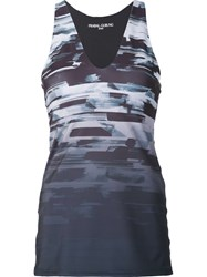 Prabal Gurung Sport 'Graphic Print Performance Racerback' Tank Grey