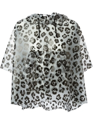 Moschino Cheap And Chic Leopard Print Jacket Grey