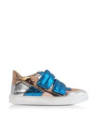 Maison Martin Margiela Blue Copper And Silver Mirror Fabric Women's Sneaker