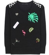 Marc Jacobs Embellished Wool Sweater Black