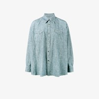 Our Legacy Ranch Snap Button Shirt Blue