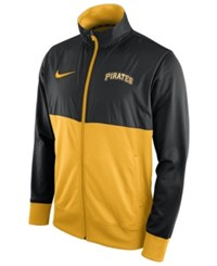 Nike Men's Pittsburgh Pirates Track Jacket Black Gold