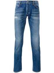 Visvim Slim Fit Jeans Men Cotton 38 Blue