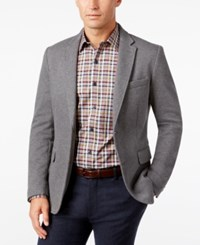 Tasso Elba Men's Knit Sport Coat Classic Fit Grey Combo