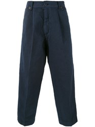 Costumein Japan Cropped Chinos Men Cotton Linen Flax 50 Blue