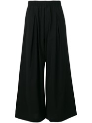 Y 3 Casual Wide Leg Trousers Black
