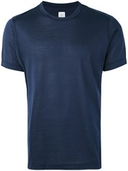 Eleventy Classic Crewneck T Shirt Men Silk Cotton L Blue