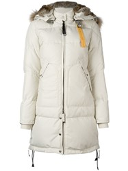 Parajumpers 'Long Bear' Coat Nude And Neutrals