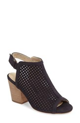Isola Women's 'Lora' Perforated Open Toe Bootie Sandal Navy Leather