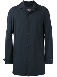 Herno Midi Raincoat Blue