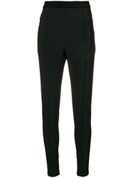 Ermanno Scervino Stretch Zipper Trim Leggings Black