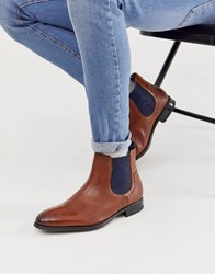 Ted Baker Travic Chelsea Boot In Tan Leather