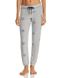 Pj Salvage Peachy Star Jogger Pants Heather Gray