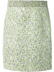 Proenza Schouler High Waisted Tweed Skirt White