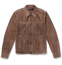 Tod's Suede Jacket Brown