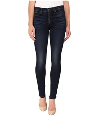 Hudson Ciara Exposed Button Skinny High Rise In Calvary Calvary Women's Jeans Black