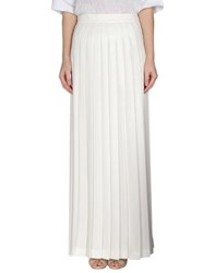 Marco Bologna Skirts Long Skirts Women White