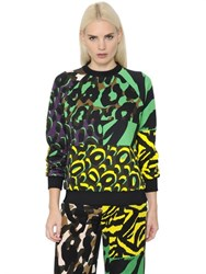 Versace Animalier Printed Cotton Sweatshirt
