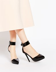 Ax Paris Darcy Ankle Strap Heeled Shoes Black