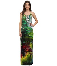 Desigual Sahara Knitted Dress With Straps Green Women's Dress